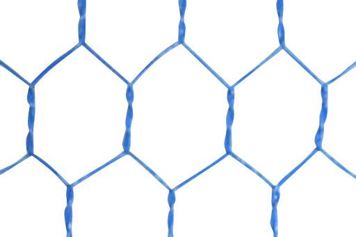 ビニール被覆亀甲金網 (青)