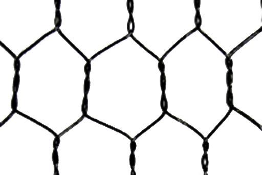 ビニール被覆亀甲金網 (黒)